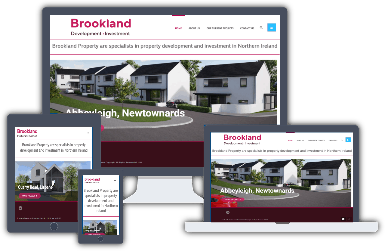 Brookland property website design